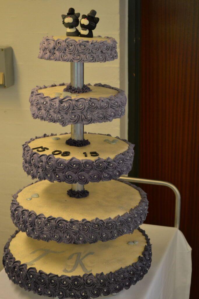 bryllupskage med glasur